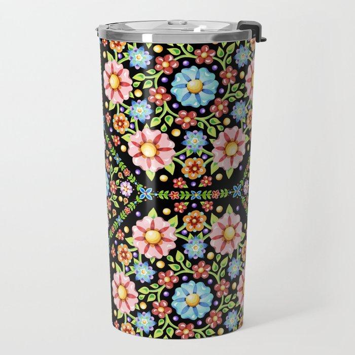 Millefiori Floral Travel Mug