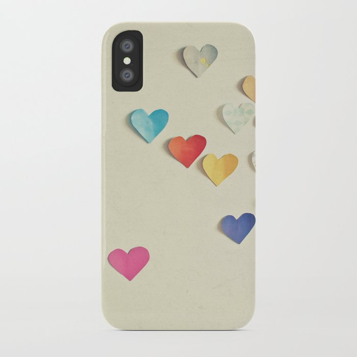 Paper Hearts iPhone Case