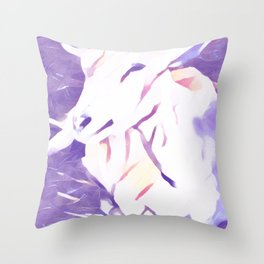 Purple Sheep Throw Pillow