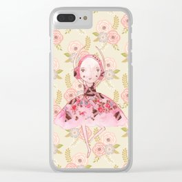 Isabella Bellarina Dancing on Flowers Clear iPhone Case