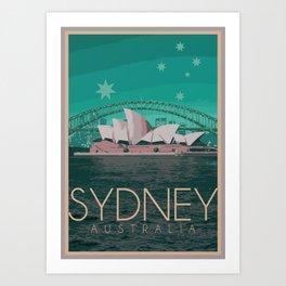 Sydney Australia Poster Version I Art Print
