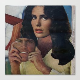 Finally a Face That Fits - Vintage Collage Canvas Print