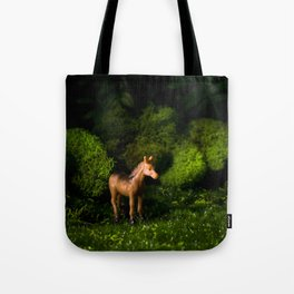 A Small Brown Horse in the Valley Tote Bag