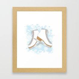 Ice skates Framed Art Print