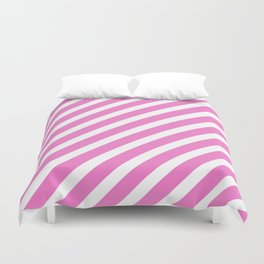 Basic Stripes Pink Duvet Cover