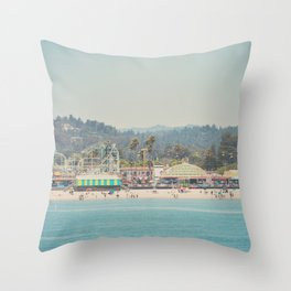 looking back on the boardwalk ...  Throw Pillow
