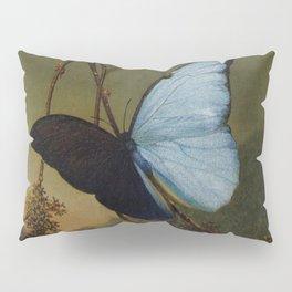Blue Morpho Butterfly 1865 By Martin Johnson Heade   Reproduction Pillow Sham