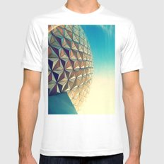 Epcot MEDIUM Mens Fitted Tee White