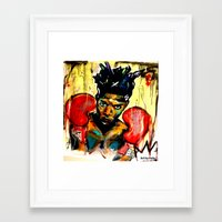 basquiat Framed Art Prints featuring Basquiat by Ruby Chavez