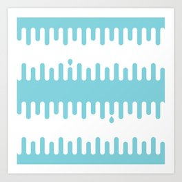 Drips: Blue Art Print