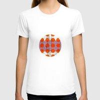 orange pattern T-shirts featuring Orange by FergusT
