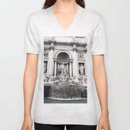 I wished for happiness - trevi fountain Unisex V-Neck