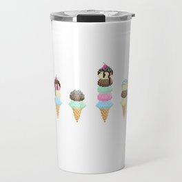 Pixel Ice Cream Art Print Travel Mug