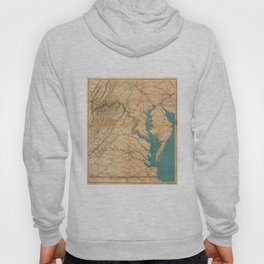 Vintage Map of Virginia and The Chesapeake Bay (1862) Hoody