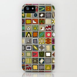 el geo stone iPhone Case
