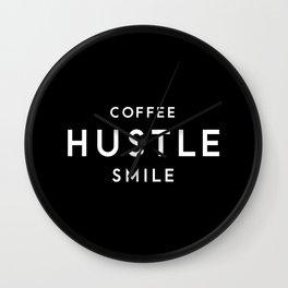 Coffee Hustle Smile Wall Clock