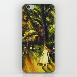 Sunday in Gramercy Park, NYC landscape painting by George Wesley Bellows iPhone Skin