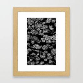 Japanese Inspired Trees in black Framed Art Print