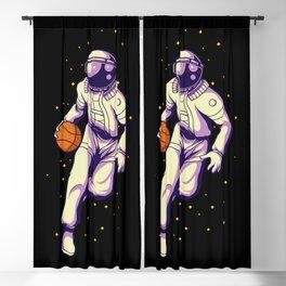 Retro Basketball Player Astronaut - Galactic Sports Blackout Curtain