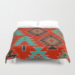 Navajo with pine trees Duvet Cover
