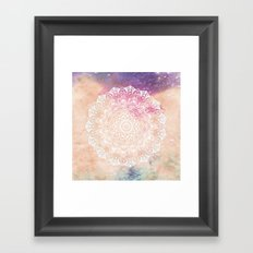 LEO CONSTELLATION MANDALA Framed Art Print