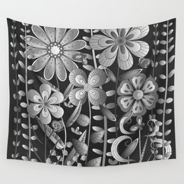 Petty Flowers Pattern 4 Wall Tapestry