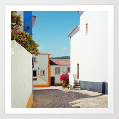 Obidos, Portugal (RR 177) Analog 6x6 odak Ektar 100 Art Print