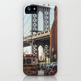 Gold hour rush in Brooklyn iPhone Case