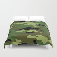camo Duvet Covers featuring Camo by anhnt32