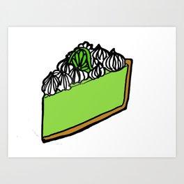 Key Lime Pie - Florida Art Print