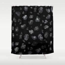 Black Leopard Shower Curtain
