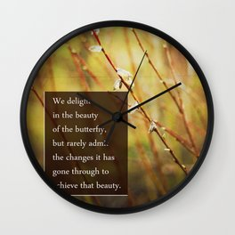becoming a butterfly. Wall Clock
