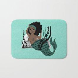 Black and Beautiful Mermaid Bath Mat