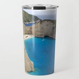 Navagio Beach with Shipwreckon Zakynthos Island, Greece Travel Mug