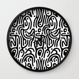 Identity Pattern Wall Clock