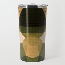 The Japanese Princess - Gold Abstract Metallic Geometry Travel Mug