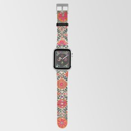Kermina Suzani Uzbekistan Colorful Embroidery Print Apple Watch Band