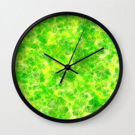 St Patrick's Day Hypnotic Clover Field Wall Clock