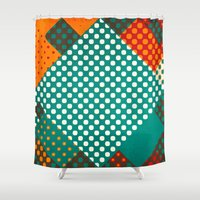 dots Shower Curtains featuring Dots by SensualPatterns