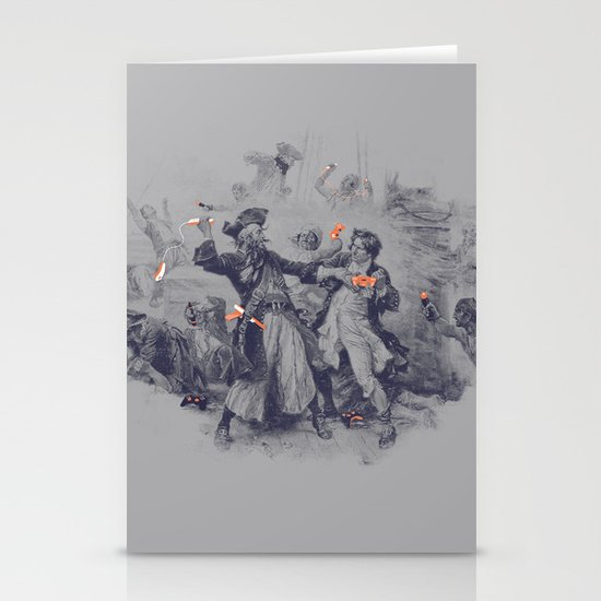 Epic Battle Stationery Cards