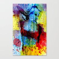 lindsay lohan Canvas Prints featuring Lindsay Lohan by Nic Moore