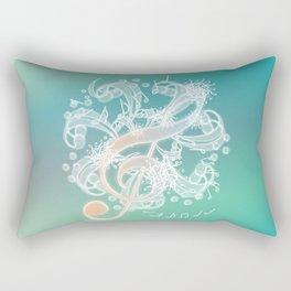 Music Notes - Crystal Rectangular Pillow