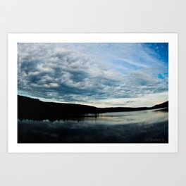 Fish-Eye Clouds 2 Art Print