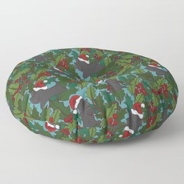 Christmas Dog Pattern Floor Pillow