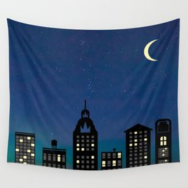 Night Life- The City Wall Tapestry