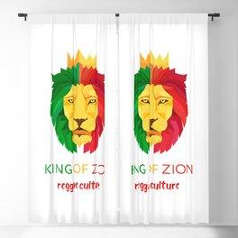 Reggae Lion Zion Blackout Curtain