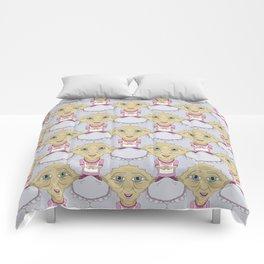 Bobblehead Grannies Everywhere Tessellation Comforters