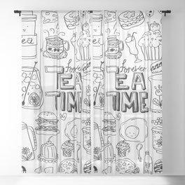 Forever Tea Time 1 Sheer Curtain