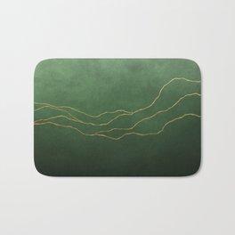 Ombre Pine & Gold Bath Mat