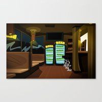 bar Canvas Prints featuring Bar by ihasb33r